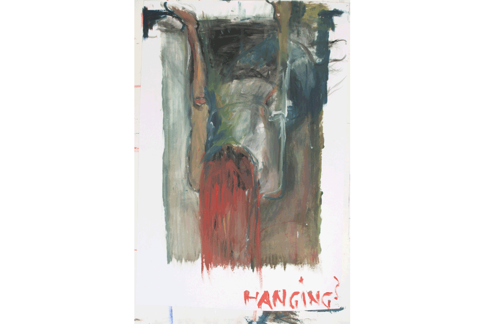 Hanging_oil-on-paper_70x100