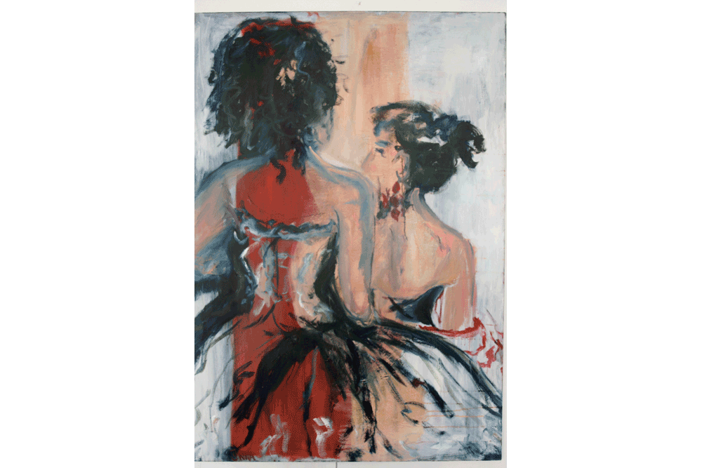 Les-dames-qui-sortent_oil-on-canvas